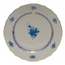 """Chinese Bouquet Blue Service Plate 11""""D"""