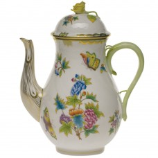 "Coffee Pot w/Rose (60 OZ) 10""H"