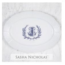 Sasha Nicholas Basket Weave Oval Platter