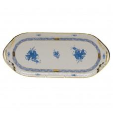"Chinese Bouquet Blue Sandwich Tray 14.5""L x 6""W"