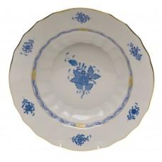 """Chinese Bouquet Blue Rim Soup Bowl 9.5""""D"""