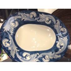 Oval Platter 16''  Navy & White